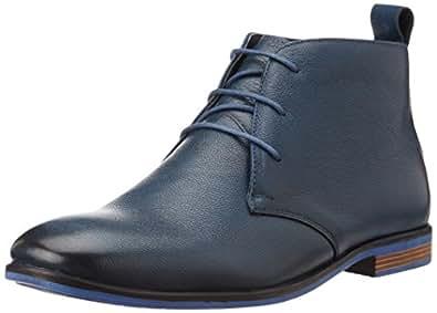 BATA Men's Bill Blue Leather Boots - 9 UK/India (43 EU)(8049193)