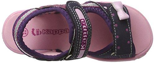 Kappa Sweettheart Ii, Sandales Bout Ouvert Fille Violet (Purple/pink)