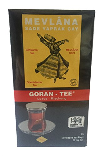Mevlana Goran Tee Beuteltee Luxus Mischung Schwarzer Tee 25 Beutel - 2er Pack