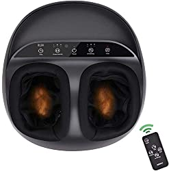 RENPHO Massage Pieds Électrique Masseur Pieds Shiatsu Appareil de Massage Pieds avec Télécommande, Chauffant Infrarouge, Compression d'Air pour Relaxation des Pieds à la Maison au Bureau