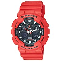Casio G-Shock Watch For Men Ana-Digi Dial Resin Band - GA-100B-4A