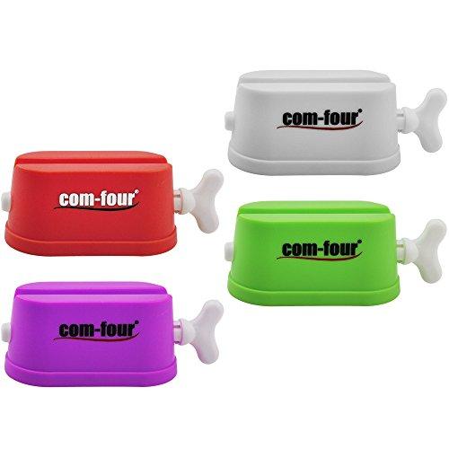 COM-FOUR® 4er Set Tubenquetscher für alle Tuben bis 6,0 cm Falzbreite