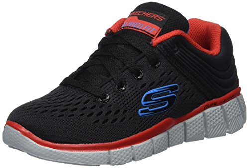 Skechers Boys Equalizer 2.0-Post Season Low-Top Sneakers, Black (Bkrd), 12 Child UK...