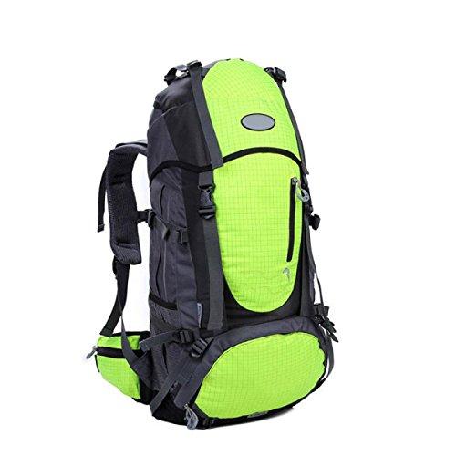Yy.f Farbe Im Freien Bergsteigen Taschen Reisetaschen Schulterbeutel Wasserdicht Tourismus Wandern Camping-Paket 55L. Multicolor Orange