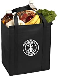 """Pack Of 3- Eco-friendly Reusable Bag Non Woven Grocery Tote Bag 15""""H X 13""""W X 10""""gusset With Handles In Black..."""
