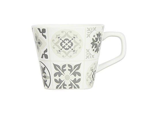 Novastyl 8017967 MANOIR Lot de 6 tasses Céramique Gris 11,5 x 8,8 x 7,5 cm 6 Pièces
