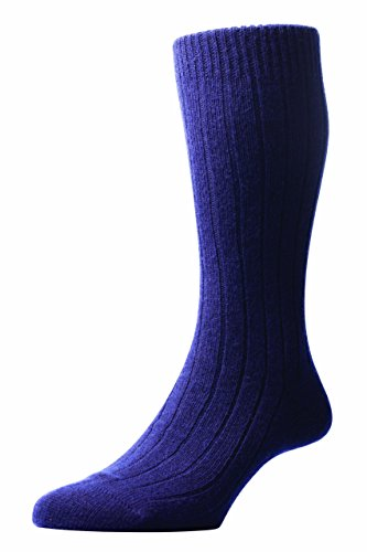 Preisvergleich Produktbild Luxuriöse Kaschmir-Socken für Herren - Marineblau - In England hergestellt - perfekt für zuhause, zum Schlafen oder auf Reisen von Masters of Mayfair