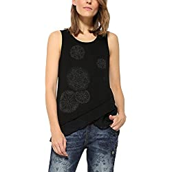 Desigual TS_AGU T-Shirt, Noir (Negro 2000), Medium Femme