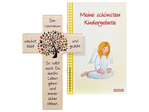 Kinder- Holzkreuz: 'Lebensbaum' 15 cm
