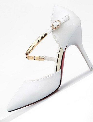 WSS 2016 Chaussures Femme-Mariage / Habillé / Décontracté-Multi-couleur-Talon Aiguille-Talons / Bout Pointu / Bout Fermé-Talons-Cuir black-us6.5-7 / eu37 / uk4.5-5 / cn37