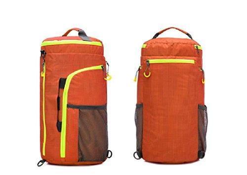All'aperto borsetta Zaino Sacchetto del messaggero Cilindro Borsa da viaggio multifunzione arrampicata Movimento Zaino , pink Orange