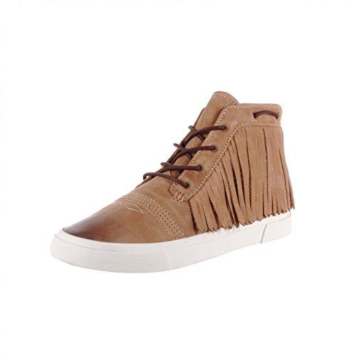 FB Fashion Boots Durango Boots Fringe Lacer Sneaker DRD0189 Camel/Damen Schnürschuhe Braun/Fransen Schuhe Camel