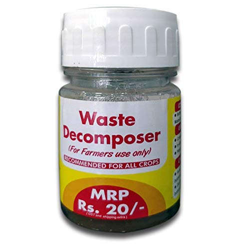 Nature Friend Organic Waste Decomposer for Agricultural Purpose (Pack of 10 Bottles, 30ml per Bottle)