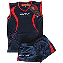 Givova - Kit de volley rojo/azul talla 2XS