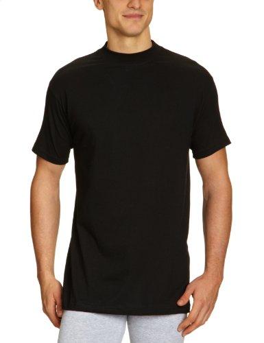 HOM Herren Unterhemd 10075508 Harro New Shirt 03, Schwarz, L (Slip-kragen)