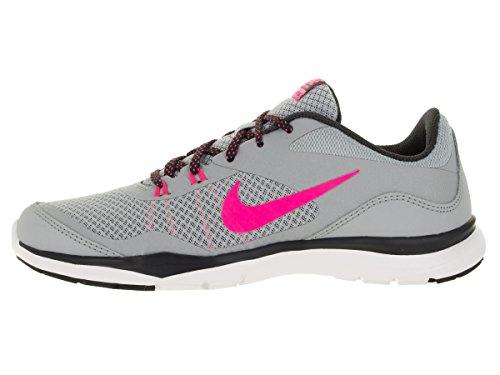 Nike Damen Wmns Flex Trainer 5 Gymnastikschuhe, Pink, UK Grau (Wolf Grey / Hyper Pink-Anthrct)