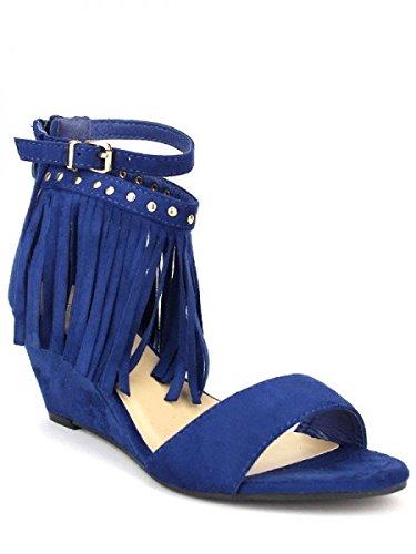 Cendriyon, Compensée Blue POKANTI Chaussures Femme Bleu
