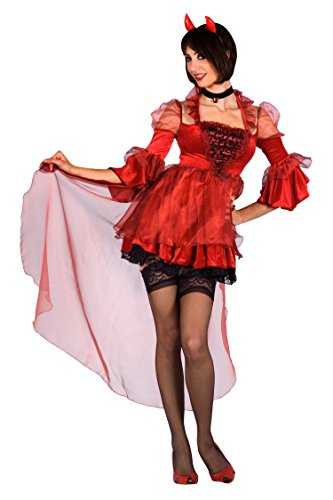 Fiori paolo- diavoletta sexy costume adulto, rosso, m, 25760