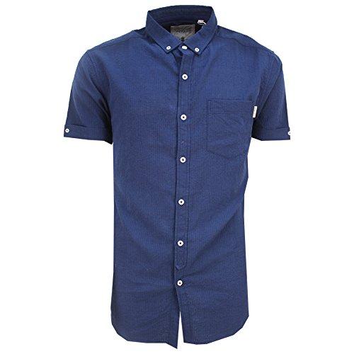 SoulStar Herren Freizeit-Hemd Navy