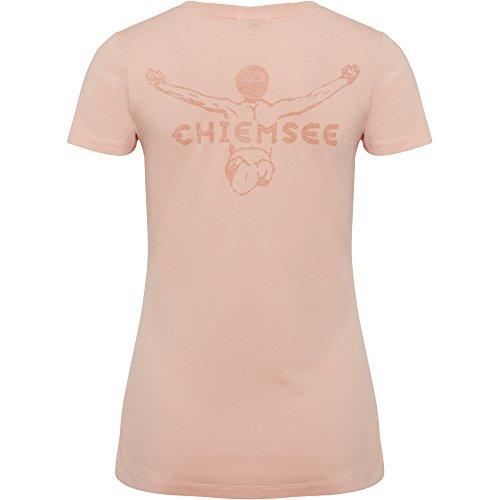 Chiemsee Damen Logoprint auf Dem Rücken T-Shirt 415 Apricot Blush