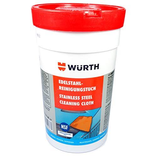 Würth Reinigungs-Tücher für Edelstahl-Reinigung Politur Metall NSF 089312130