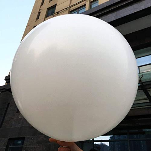 5 globos grandes - Globos redondos de 36 pulgadas - Globos extra grandes y gruesos Globos de látex gigantes reutilizables para bodas, sesiones de fotos y festivales Decoraciones navideñas (blanco)