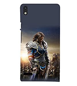 printtech Army General Game Commander Back Case Cover for Huawei P6::Huawei Acend P6 Dual