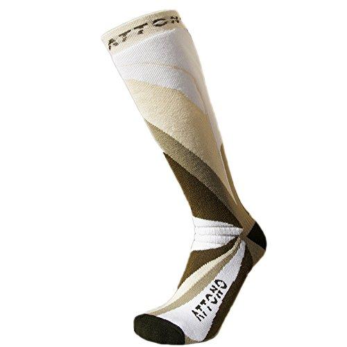3 Paar Warme Skisocken ATTONO® Ski Snowboard Socken Strümpfe Damen Herren Kinder (Größen 32-47) -