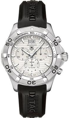 TAG Heuer CAF101F.FT8011 - Reloj de cuarzo para hombre, con correa de goma, color negro
