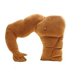 Idea Regalo - Missley Cuscino Hold Boyfriend Braccio Muscolare Uomo Hug Corpo Marrone Caldo Letto Sonno Cuscino