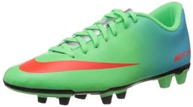 Nike Men's Mercurial Vortex Fg Neo Lime,Total Crimson,Metallic Silver,Polarized Blue  Football Boots -10 UK/India (45 EU)(11 US)