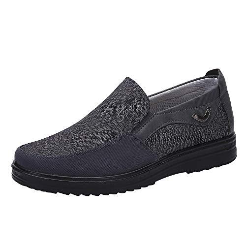 (BURFLY Männer niedrige Schuhe weichen Boden Laufschuhe Sportschuhe Mesh atmungsaktive Freizeitschuhe)