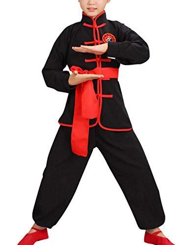 Zhhlaixing Kinder Chinesisch Verrücktes Kleid Kung Fu Uniformen Unisex Kostüm Traditionell Tai Chi Kampfsport-Outfits Jungen Mädchen