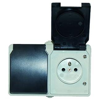 Voltman DIO054005Aquatop Double Socket, 2Pole and Earth, IP44Waterproof [EU 2-Pin Socket]