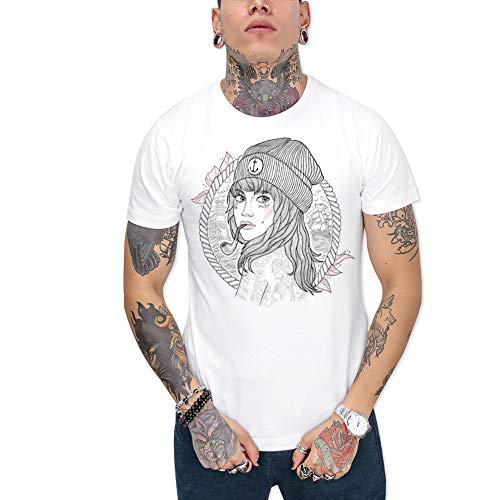 VIENTO Woman Captain Herren T-Shirt (Weiß, x-Large)