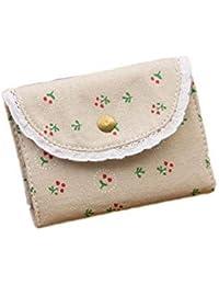 Lori Cute Floral Pattern Credit Card Holder Wallets Canvas Card Case Card Sets Coin Purse - B07GDJ9PYJ