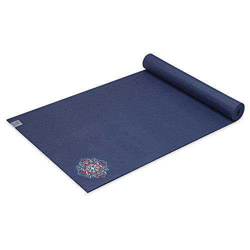 Gaiam Bestickt Yogamatte, Floral Denim