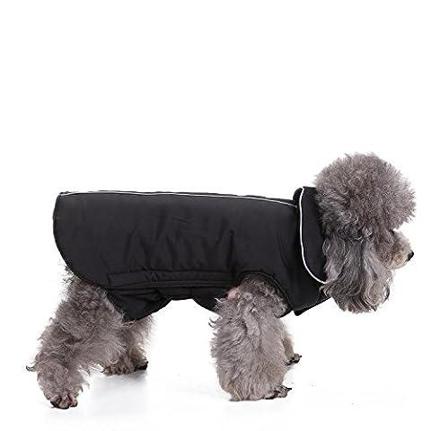 Dog Jacket ImperméAble à L'Eau 100% Polyester- Veste MolletonnéE DoubléE à Motif RéVersible Pour Chien Veste En Polaire Pour Chien Avec Une Souche Douce LNAG , l