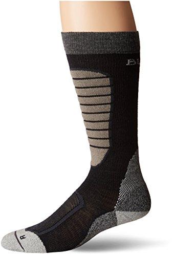 Burton Herren Merino Phase Socken, Herren, 100641, True Black, M - Burton Socken Schwarz