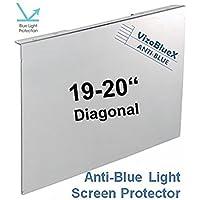 19-20 Pulgadas VizoBlueX Anti Luz Azul Filtro para Monitor de computadora. Panel de protección de la Pantalla de luz Azul de la computadora (44,0 x 27,0 cm). para TV, LCD TV y PC, Mac