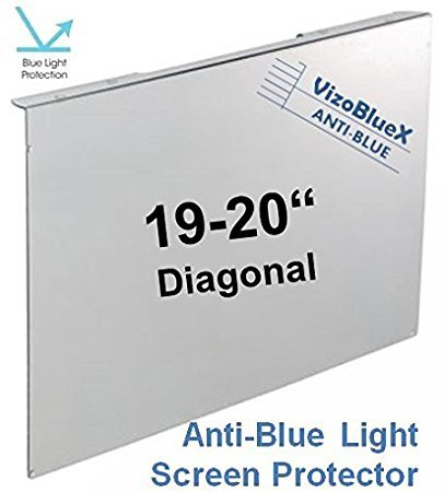 19-20 Zoll VizoBlueX Blaulichtfilter für Computermonitor. Anti-Blaulicht Computer Monitor Bildschirmschutz-Panel (44,0 x 27,0 cm). Für TV, LCD Fernseher und PC, Mac.Das ist Nicht Schutzfolie