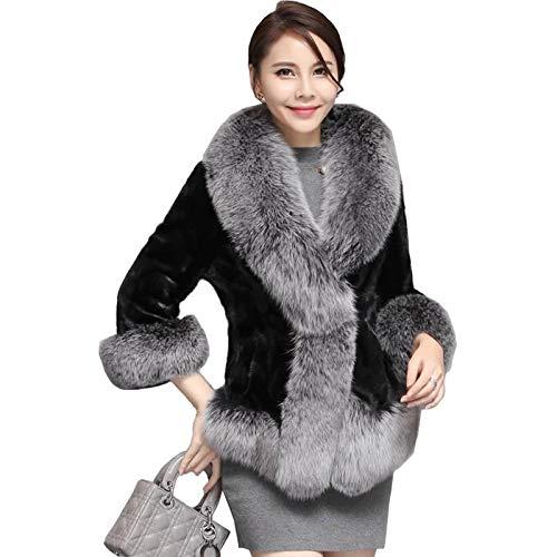 ZYJANO Warmer Mantel,Kragen-Stulpe-Herbst-Winter-Frauen-Graben-Oberbekleidung-Mäntel Plus Größe 6