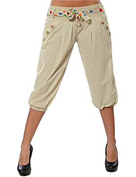 ShiFan Pantalones Harem Capri Piratas De Tiro Bajo Sueltos para Mujer