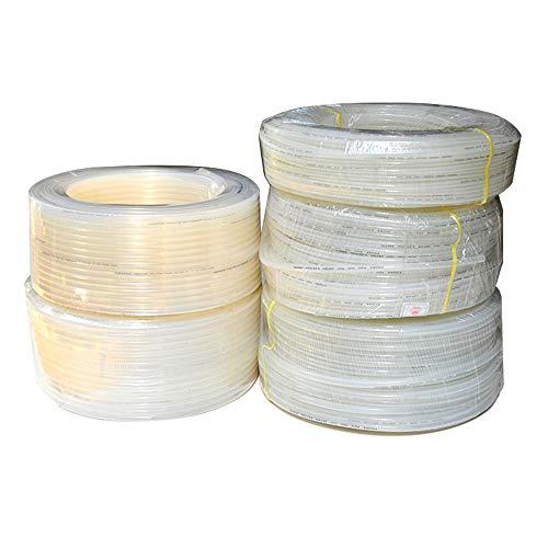 WXH Hochdruck geflochtene klare Vinylschläuche Flexible PVC-Schläuche, Hybrid-PVC-Schlauch, 5 * 8 mm / 10 * 6,5 mm / 8 * 11 mm, 100 Meter lang, strapazierfähig und leicht -