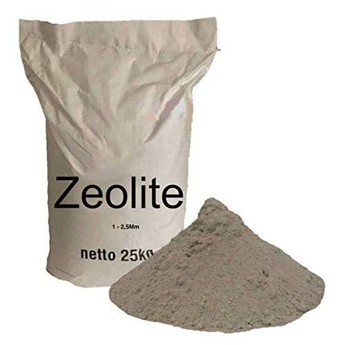 Z5 25kg 1 - 2,5 mm ZEOLITE naturel activé pour piscine d'aquarium eau d'étang d'eau claire.