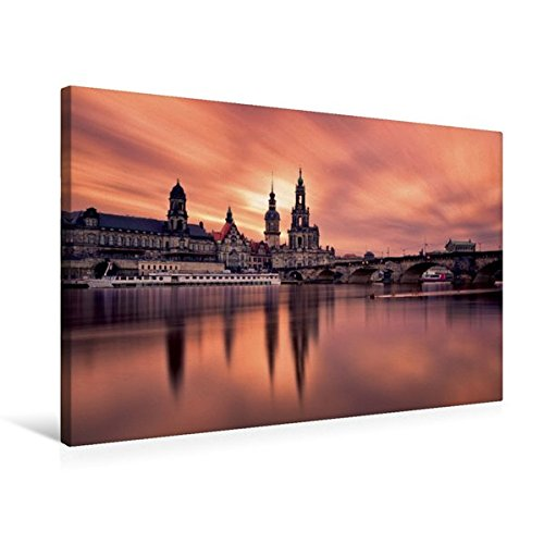 Calvendo Premium Textil-Leinwand 75 cm x 50 cm Quer, Dresdner Altstadt | Wandbild, Bild auf...