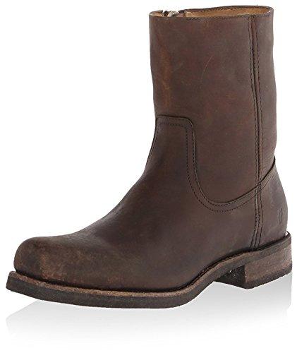 FRYE Mens Heath Inside Zip Boot Dark Brown