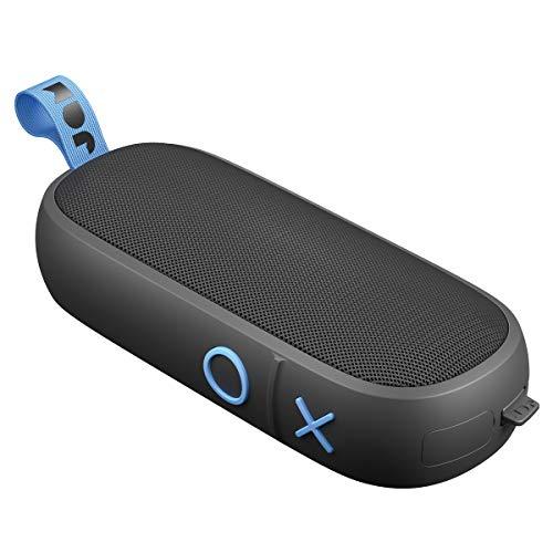 Jam Hang Around - Koppelbarer Bluetooth Lautsprecher (30m BT Radius, Mikrofon, 20 Std. Akkulaufzeit, wasserdicht, staubdicht, sturzsicher IP67 zertifiziert, integriertes USB Kabel, Aux-In) black
