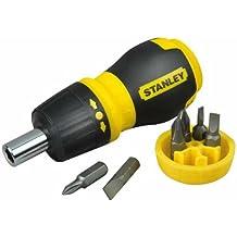 Stanley 0-66-358 - Desatornillador, ejecución corta, con carraca y seis puntas