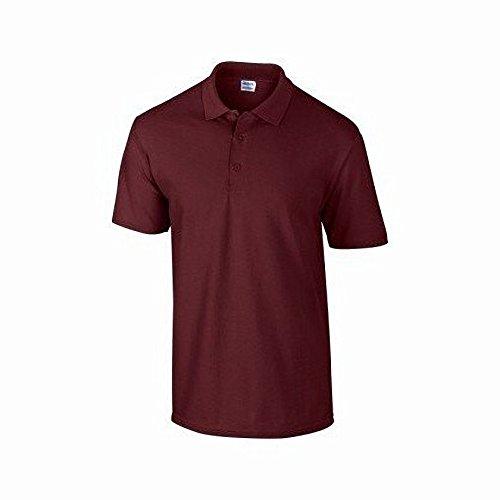 Gildan DryBlend Herren Pique Polo-Shirt, Kurzarm Rotbraun